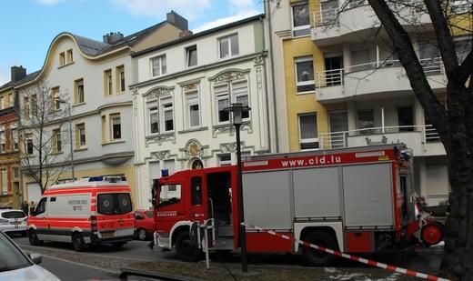 actualit luxembourg dudelange incendie d 39 une cuisine dans la rue jean jaur s. Black Bedroom Furniture Sets. Home Design Ideas