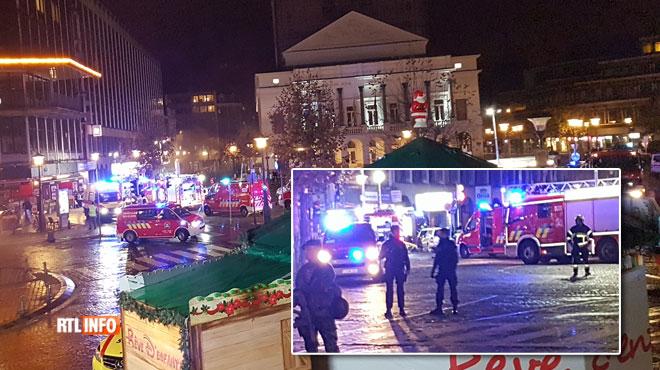 Panique à Liège : incendie dans le parking Opéra !