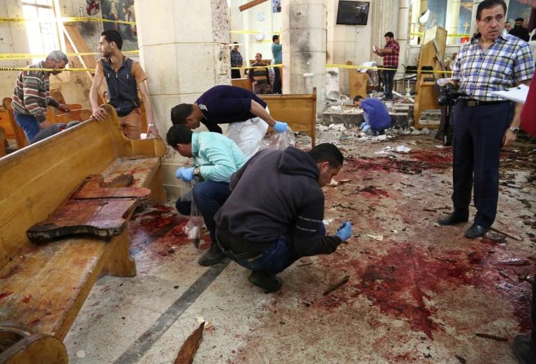 Au moins 44 morts dans deux attentats contre des églises en Egypte