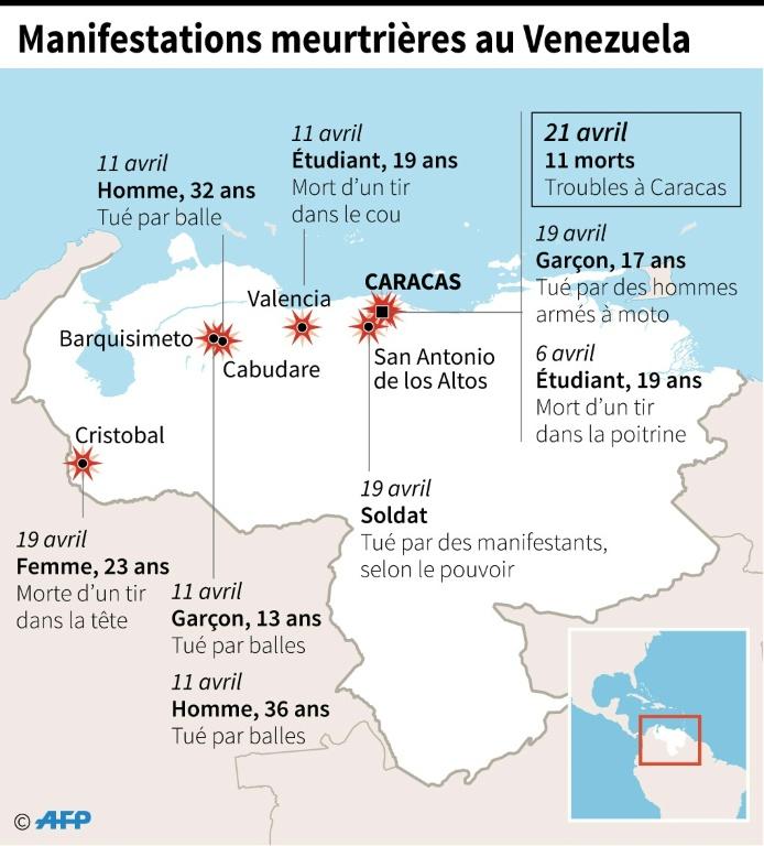 Poursuite des manifestations anti-Maduro et des affrontements — Venezuela