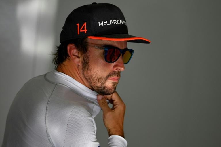 Fernando Alonso tourne sur l'ovale d'Indianapolis