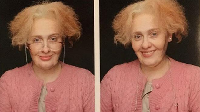 Adele méconnaissable déguisée en grand-mère pour ses 29 ans