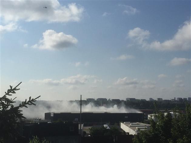 Incendie à Neder-Over-Heembeek: le plan d'urgence a été levé