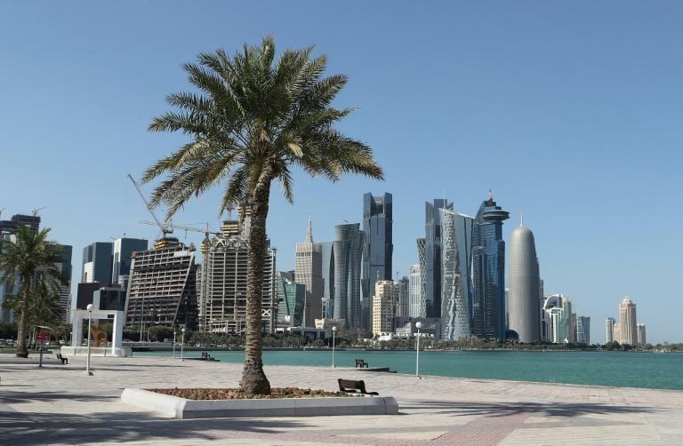 Vue de Doha le 5 juin 2017
