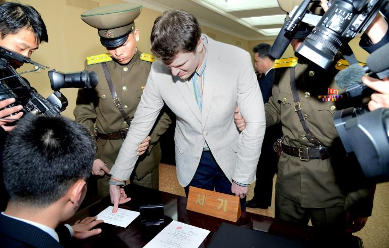 Libération d'un étudiant américain détenu en Corée du Nord