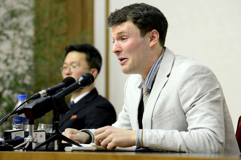 Un étudiant américain libéré — Corée du Nord