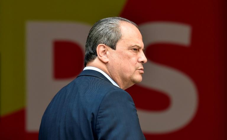 Jean-Christophe Cambadélis premier secrétaire du Parti socialiste le 17 juillet 2017 rue de Solférino à Paris