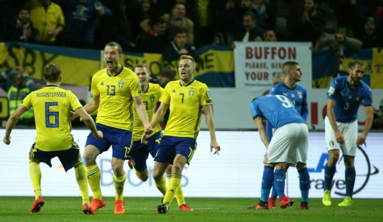 Mondial 2018 : l'Italie battu en match de barrage