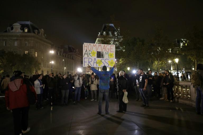 Manifestation le 26 octobre 2017 à Paris pour réclamer justice pour Rémi Fraisse militant écologiste tué en 2014