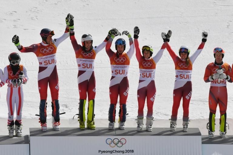 La France termine quatrième dans l'épreuve par équipes et manque la 16e médaille à Pyeongchang, la — Ski alpin