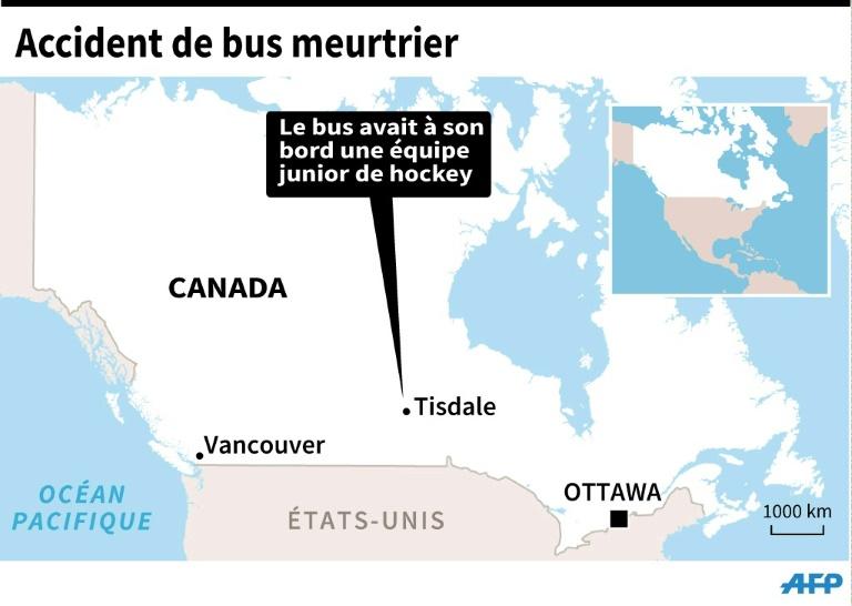 Accident de bis meurtrier au Canada le 7 avril 2018