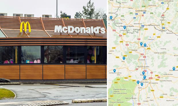 Suspicion de listeria dans les restaurants McDonald's — Nouvelle-Aquitaine