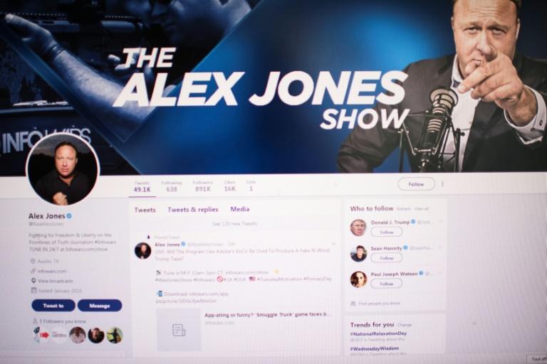 WASHINGTON — Alex Jones, fondateur du site InfoWars et personnalité.