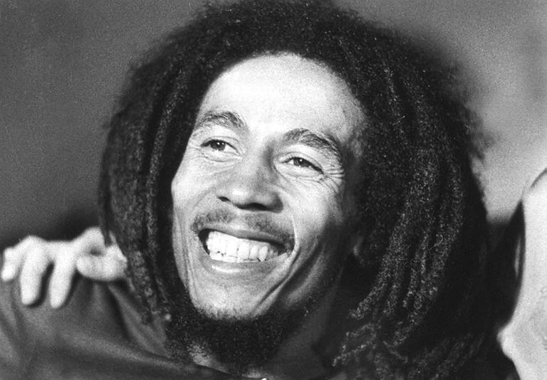 Le chanteur jamaïcain Bob Marley en 1976