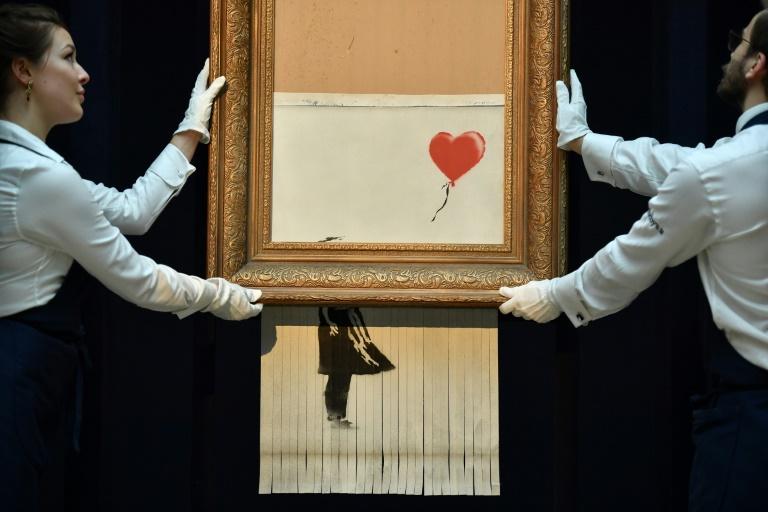 Sa toile autodétruite sera bientôt exposée — Banksy