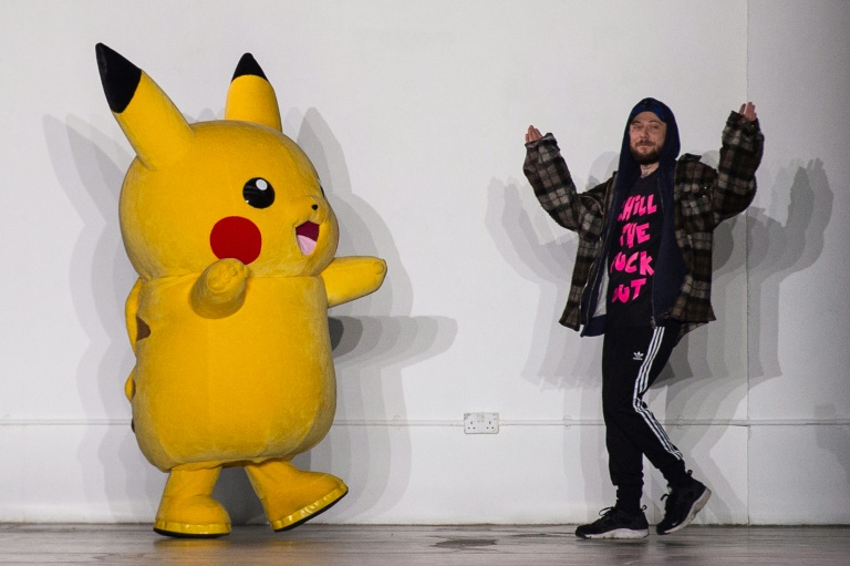 9744fed27 British designer Bobby Abley cemented his reputation for playfulness by  mining Japanese cartoon phenomenon Pokemon for inspiration / © AFP