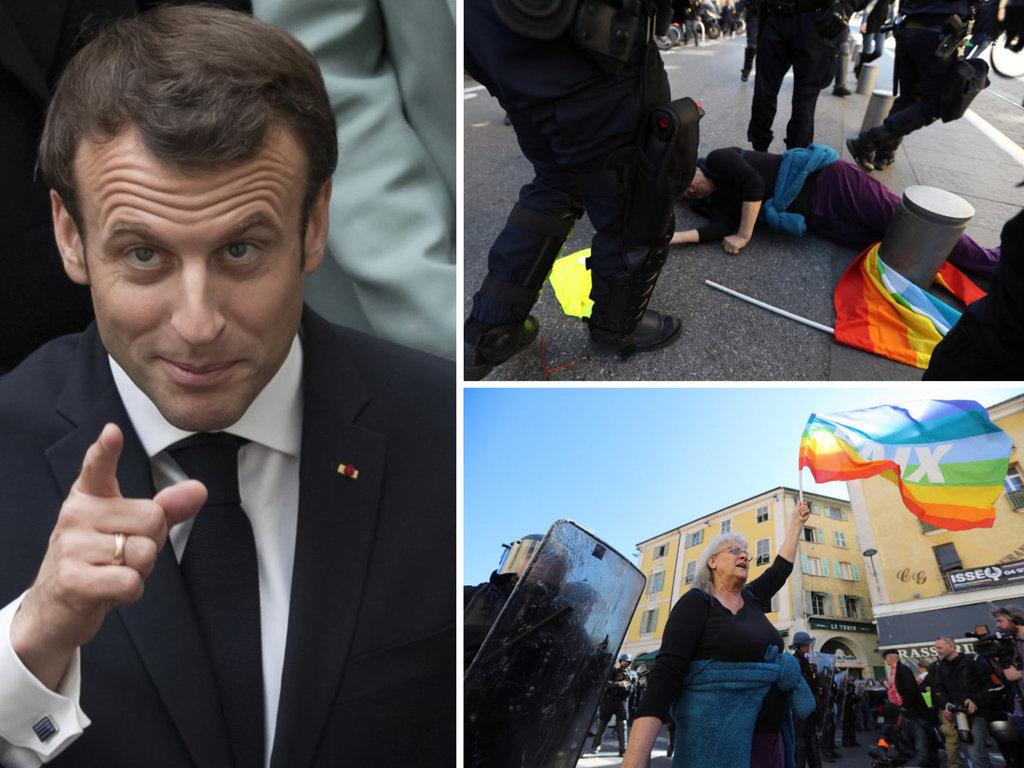 Polémique :Quand Macron fait la morale à une manifestante de 73 ans