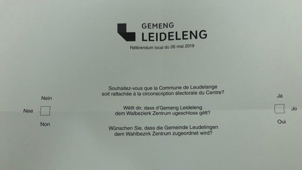 Référendum consultatif :Leudelange: 59,41% pour le centre