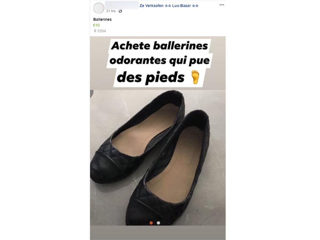"""Insolite au Luxembourg :Il paie pour se procurer """"des ballerines odorantes"""""""
