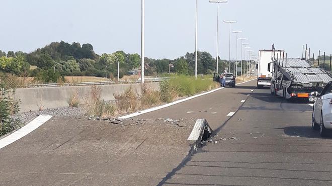 Autoroute E411 :La chaleur provoque le soulèvement des deux voies vers Luxembourg