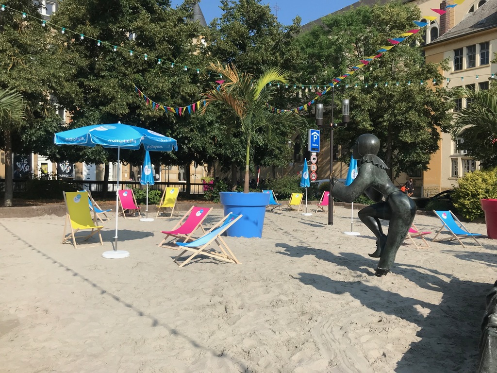La photo du jour :17 juillet, rendez-vous à la plage de Luxembourg-ville