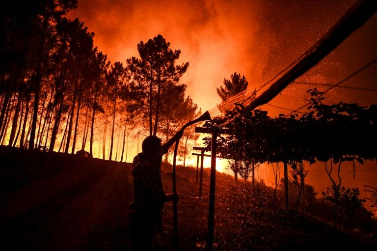 Portugal :Plus de 1000 pompiers luttent contre un vaste incendie
