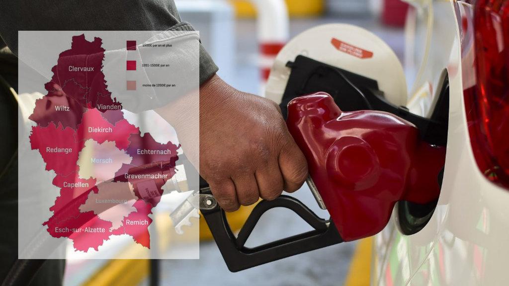 Carte du Grand-Duché :Où consomme-t-on le plus de carburant?