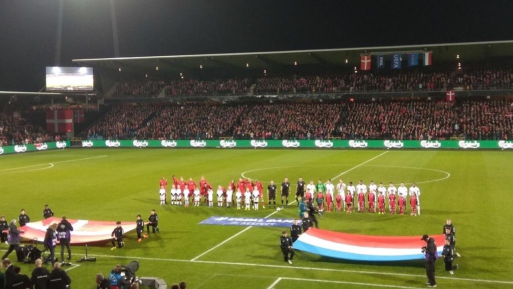 Match amical :Le Danemark a largement dominé le Luxembourg