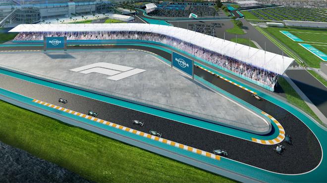Formule 1 :Vers un Grand Prix à Miami en 2021