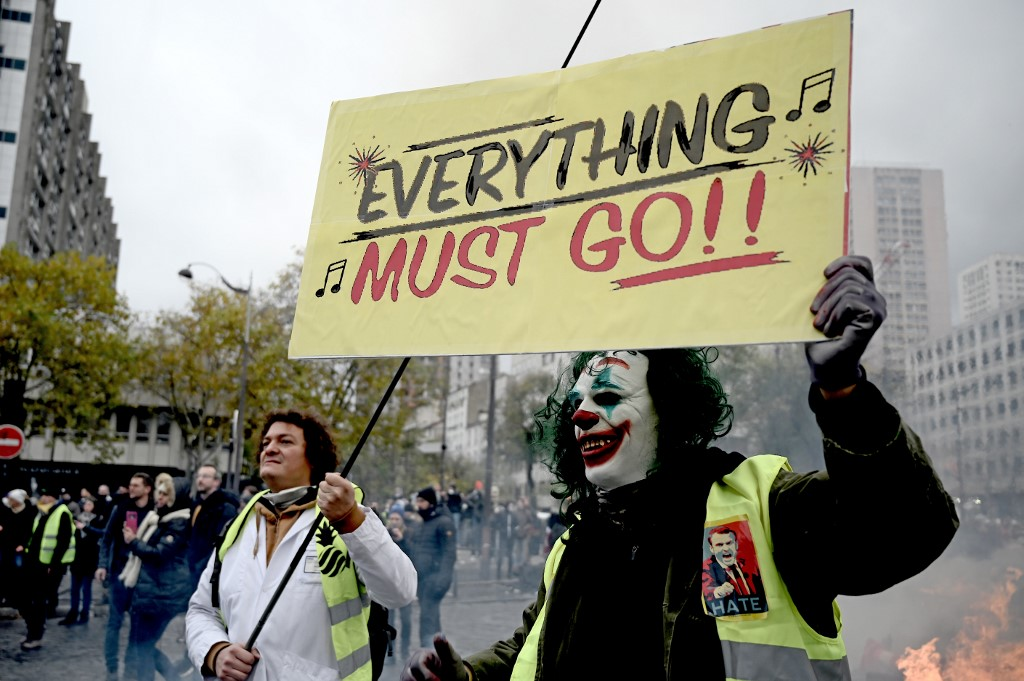 """Paris :Une manifestation des """"gilets jaunes"""" annulée"""