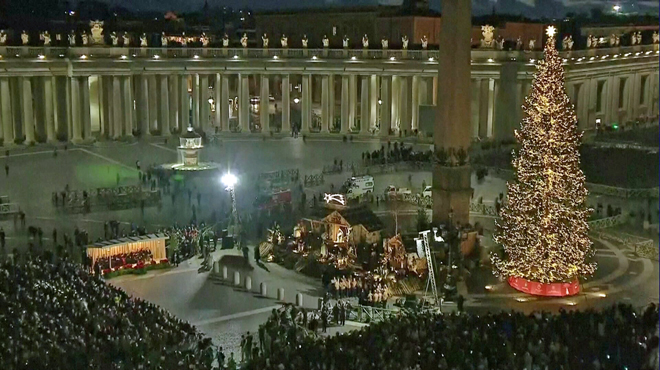 Noël chrétien :Le Vatican inaugure sa crèche et son sapin de Noël