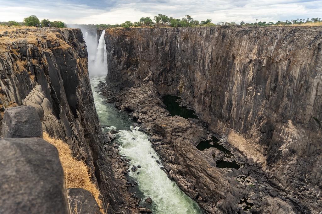 Impressionnant :Les chutes Victoria sont presque à sec
