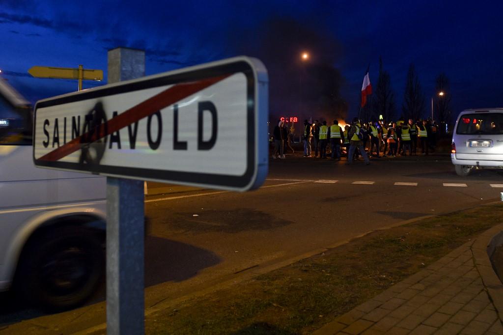 Saint-Avold :Une manifestante renversée à un barrage
