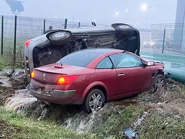 Près de Briey :Accident spectaculaire avec délit de fuite