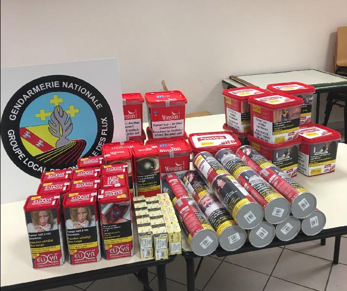 Meuse :Ils revenaient du Luxembourg avec 9 kilos de tabac