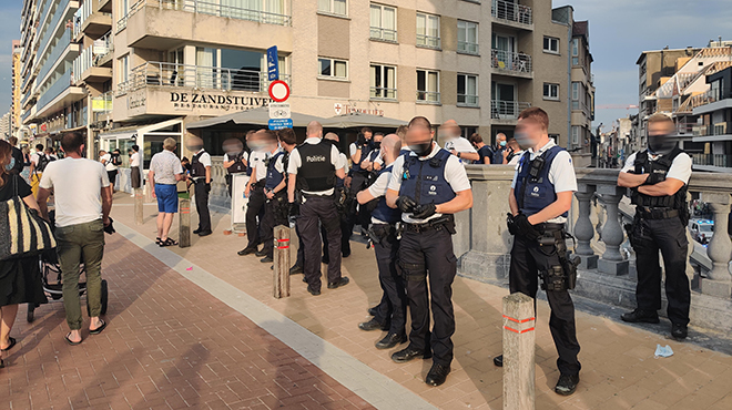 Côte belge :Suite aux émeutes, les touristes d'un jour interdits à Blankenberge et Knokke