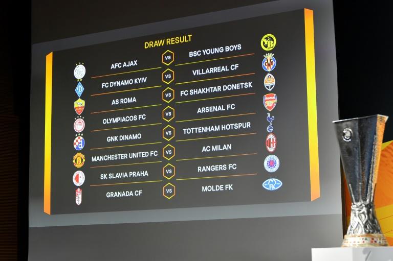 Ligue Europa :Découvrez les affiches des huitièmes de finales