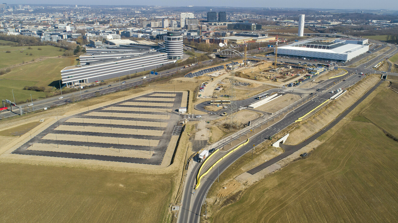 Cloche d'Or :Les images du nouveau parking XXL près du Stade de Luxembourg