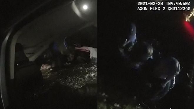 Vu aux États-Unis :Ils plongent dans un étang pour sauver une conductrice âgée