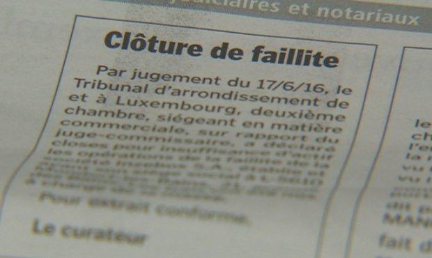 Une accalmie provisoire? :Le nombre de faillites recule au Luxembourg, malgré la crise