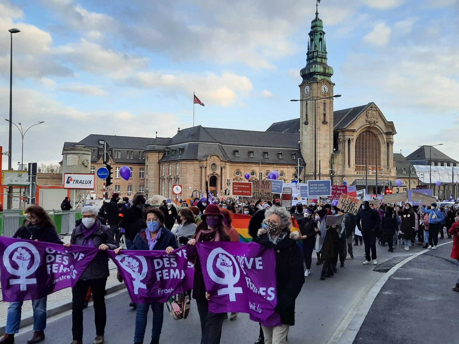 """Manif pour les droits des femmes :""""Les hommes doivent faire partie de la solution"""""""